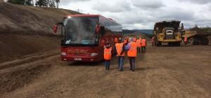 Un car Migratour sur le chantier du contournement du Puy
